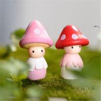 Decorazioni da giardino Mushroom Figurine Figurine Cactus Ornamento Miniature Paesaggio Accessori HHD10309