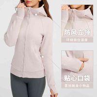 's same non-standard scuba women's sports Fleece Hoodie zipper sweater Yoga Fitness jacket