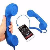 Combinée de téléphone portable 3.5mm Jack Classic Téléphones Retro Combinés Mini Mic Mic Haut-Parleur Récepteur pour Samsung Huawei