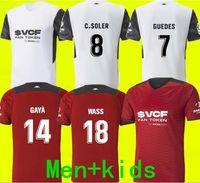 21 22 Valencia CF Soccer Jerseys C.Soler 2021 2022 Camiseta Cuttrone Gameiro Oliva Gaya Manu Vallejo Chemise de foot