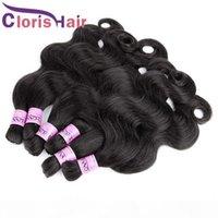 Abbigliamento umano non trasformato Capelli Body Body Wave Hand Brasilian Hair Bulk in estensioni No Attacco a buon mercato Bagnato e ondulato Weave Bundles per micro treccia