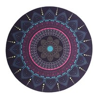 Mouse Pads & Wrist Rests Computer Pad Retro Bohemian Round Stitching Game Rubber + Cloth