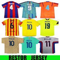 96 97 Retro Jersey Figo 1899 1999 Xavi Ronaldinho Ronaldo 08 09 07 Rivaldo Guardiol A Iniesta Pique Xani Henry Stoitckov Henry 10 11 12