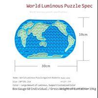 5 pcs / DHL Jumbo Grande Gigante 30cm Fidget Bubble Pop Poppers Brinquedos Brilho No Mapa do Mundo Dark Poo-Sua borracha sensorial Bubbles Bubbles Board Blocks Antistress 2021