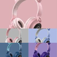 Light Headset LED Newest Foldable Flashing Glowing Gaming Cute Cat Ears Wireless Headphone BT 5.0 HIFI Stereo Music with Mic DHL2021i
