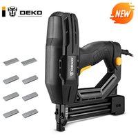 DEKO NEW DKET01 02 Electric Tacker Stapler Power Tools Furniture Staple Gun for Frame with Staples and WoodworkingNail gun