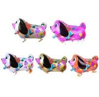 Caminando globos de mascotas Animal Helio Aluminio Dibujos animados de aluminio Balloons Multicolor Bosque encantador Animal Boda Boda 227 S2