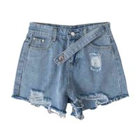 S-5xl Vintage Ripped Hollow Out Shorts Mujeres Alta Cintura Sexy Femenino Moda Casual Jeans Denim 210601