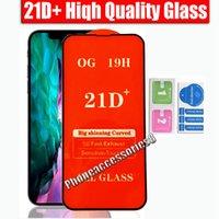 Protecteur d'écran de téléphone en verre trempé de haute qualité 21D + 12 11 PRO Max xr xs 6 7 8 Samsung A22 A32 A32 A52 A72 A12 A01 A01S A02 A02S