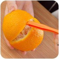 جديد 15CM مقطع طويل البرتقال أو الحمضيات مقشرة الفاكهة zesters مضغوط وعملية المطبخ أداة HWE10152