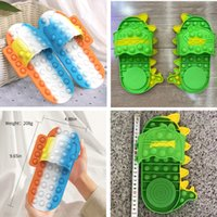 Fidget Toy Shoes Feet Acupoint Stimulation Slippers Sensory Push Bubble New Finger Squeeze Bubbles Puzzle Fashion Silicone Adult Children Decompression Sandles