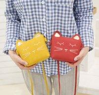 New Children's Coin Purse Baby Cat Mini Shoulder HandBag Cute Princess Messenger Bag Faux Suede Small Bags for Kids Girl