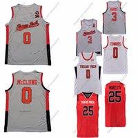 Texas Tech Basketball Jersey NCAA College.0 Mac McClung.1 Terrence Shannon Jr.25 Davide Moretti Qualquer nome e número pode ser personalizado