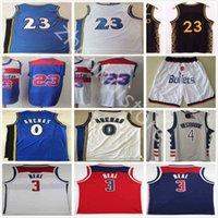 Top Bradley 3 Beal 4 Beal 4 Westbrook Jerseys Nouveau Gris Rouge Bleu Bleu N ° 23 Vente en gros pas cher Rétro Vintage Classic Gilbert 0 Arenas Basketball Jersey