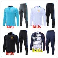 أطفال ريال مدريد تدريب كرة القدم دعوى Soccer Bracksuit 2021 2022 سترة كرة القدم الطفل Survetement chandal الركض