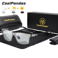 Gafas de sol Top Gafas de camaleón Fibra de carbono Cuadrado Pochrómico Polarizados Hombres de conducción Gafas Sun Zonnebril Heren