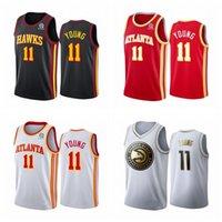 Jerseys de baloncesto para hombres Trae 11 Young 2020 cosido Vancouver Vintage Basketball Jerseys rojo negro 2021 1223