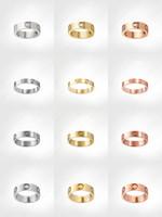 Любовные винтовые кольца мужские кольца классические роскоши дизайнер ювелирные изделия женские титановые стальные сплава из сплава золотая золотая серебряная роза никогда не исчезает не аллергия -4 / 5/6 мм