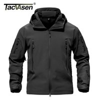Tacvasen Army Camouflage Airsoft Jacket Mens Military Tactical Giacca Impermeabile Softshell Outwear Cappotto a vento Gunt Abbigliamento 210901