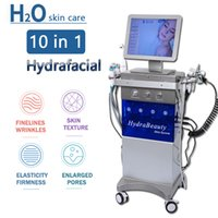 Newest 11 in 1 Hydrafacial Machine Hydro Dermabrasion Facial Peeling Ultrasonic Skin Scrubber Oxygen Spray face Care Microdermabrasion