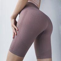 Lulu Legging Stil Mektubu Yüksek Bel Kalça Asansör Egzersiz Giysileri Bayan Beşinci Pantolon Spor Pantolon Orta Kısa Tayt Streç Yoga Pantolon