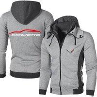 Erkek Hoodies Tişörtü Bahar Sonbahar Corvette Logo Açık Rahat Erkek Ceketler Sıcak Yüksek Kalite Harajuku Dış Giyim