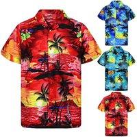 Men's Casual Shirts Remera Hawaiana Para Hombre, Informal A La Moda Con Botones, Estampado Hawaiano,