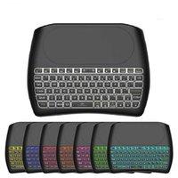 Hintergrundbeleuchtung d8 pro plus englischer russisch 2.4ghz Wireless Mini-Tastatur Air Mouse Touchpad-Controller für Android-TV-Box