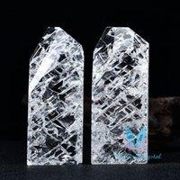 MAROCCO CRACK Healing Clear Bianco Quartz Crystal Meditation Decor Stone