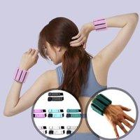 Sport-Handgelenkband Gewichtheben-Riemen Fitness-Gym-Bandage Handstütze Armband einstellbares Silikon-Yogagewichtes Armband
