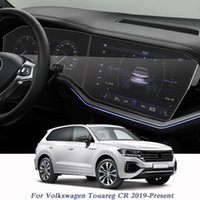 Volkswagen Touareg CR 2019 için Araba Styling-Mevcut GPS Navigasyon Ekran Film Dashboard Ekran Filmi İç Etiket