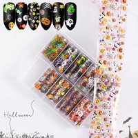 10pcs box Halloween Xmas Snow Flower Pattern Nail Art Stickers Starry Sky Water Decal Christmas Sticker Transfer Foils for Nails Manicure Decoration