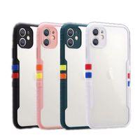 Yeni iPhone 12 Mini 11 Pro X XR XS Max 8 7 6 Artı Cep Telefonu Kılıfı Şeffaf Temizle Kontrast Renk Darbeye Kılıfı Koruyun