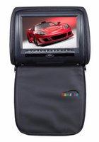 Car Video 2 Pcs X 9'' Digital Panel Headrest DVD Player Automotivo Auto Head Rest LCD Monitor Multimedia Audio Tela Encosto Carro