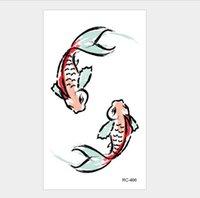 10.5 * 6cm autocollant de tatouage temporaire beauté art art étanche halloween eau transfert rc tatouage mignon t1876