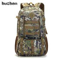 Buckon camo mochila tático militar militar mochila 50l impermeável caminhadas hiking mochila mochila turista saco saco hab037 210304