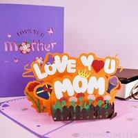 Biglietto di auguri di giorno di madri 3D Pop-up Love You mom Greeting Biglietto di auguri per Birthday Madri Nuovo Biglietto di auguri creativo creativo
