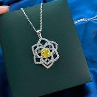 HBP Fashion Shi Pei Новый геометрический кулон с цепочками Inlaid Diamond Gold Clover 925 стерлингового серебра, выдолбление O-цепи ожерелье для женщин
