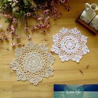 Изысканный коврик для стола ручной работы вязание крючком сплетенные цветочные узор кружево хлопок салфетки