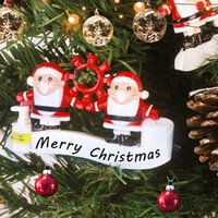 Персонализированные карантинные рождественские украшения выжившие семьи орнамент индивидуальные рождественские украшения рождественской елки висит кулон HWA8236