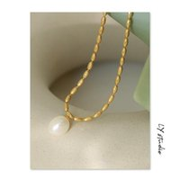 Pendant Necklaces The Necklace Pearl Girl Niche Design French Retro Collarbone Chain Fashion For Women 2021 Trendy