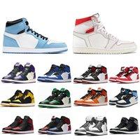 2021 Jumpman1 Ayakkabı Chaussures de Spor Üniversitesi Mavi Retro S Basket-Top OG Haut Hommes Femmes Sepetleri Kadın Erkek Spor Kraliyet Oyun Sneakers