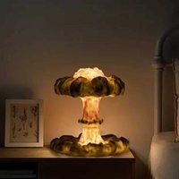 3d Mushroom Cloud Explosion Lamp Creative Nightlight Led Table Lamp Simulation Nuclear Explosion Usb Light Party Home Decoration Q0525