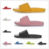 2021 بالينكسياغا الرجال النساء الصنادل النعال مصمم الأحذية الفاخرة الشريحة الصيف الأزياء واسعة شقة زلق شبشب الوجه بالتخبط حجم 35-46 زهرة مربع