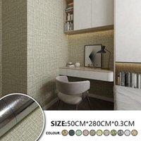 Wallpapers 11 Styles Aluminum Foil Linen Pattern Wallpaper Wall Stickers Living Room Bedroom Decor Modern Furniture Sticker