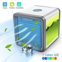 Ventilateur de refroidissement de voiture Ventilateur de refroidissement ALL Lampe à LED Mini USB Portable Conditionneur Humididificateur Purificateur LUMIER COREUR DE TABLE DE TABLE