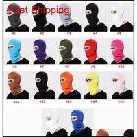 Caps Carpartment Outdoor Sports Neck Mask Ski Snowboard Wind Cap Police Cycling Balaclavas Motorcycle Face Masks 17 Colors Koub 0Moyr