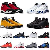 Nike Air Jordan Retro 14 AJ Jordans Jumpman 14s Toptan Erkek Kırmızı Basketbol Ayakkabı Ferrari çöl kum Siyah ayak Indiglo Thunder Kurt Gri Moda erkek eğitmenler sneaker ücre ...