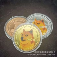 Toy Coin Commemorative Coin Dog Coin Color 3d Painting.