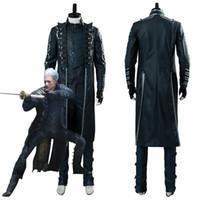 Diabo pode chorar 5 dmc5 vergil envelhecido cosplay traje outfit conjunto completo jaqueta uniforme